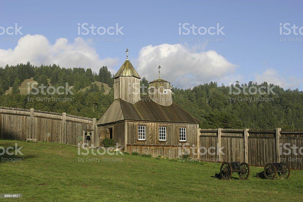 scene from Fort Ross stock photo