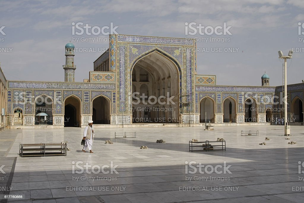 Scene from the Friday Mosque of Herat stock photo