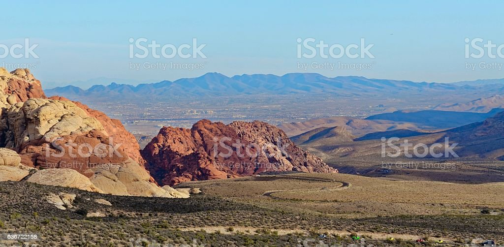 Scene in Red Rock Canyon stock photo