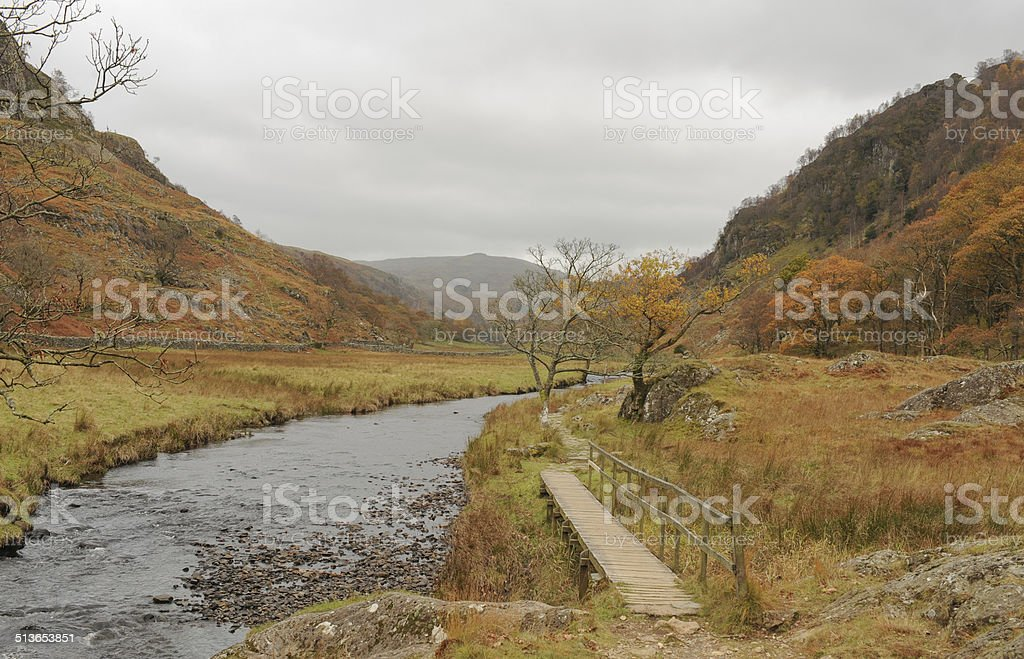 Scene in the English Lake District National Park, Cumbria, England stock photo
