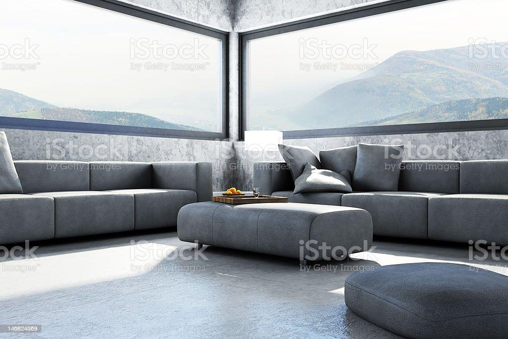 3D Scene interior room royalty-free stock photo