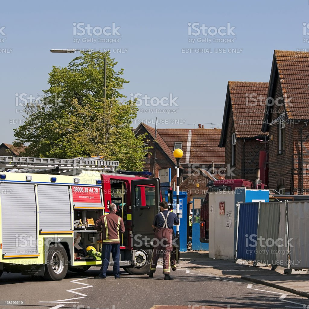 Scene of an accident royalty-free stock photo