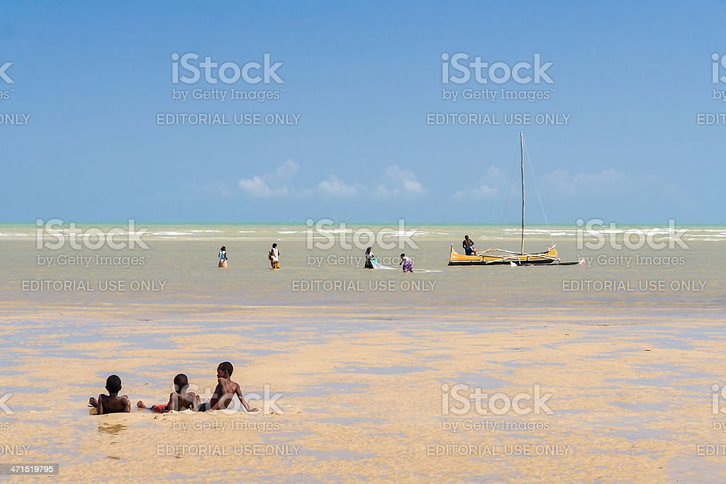 Scene of life in the lagoon royalty-free stock photo