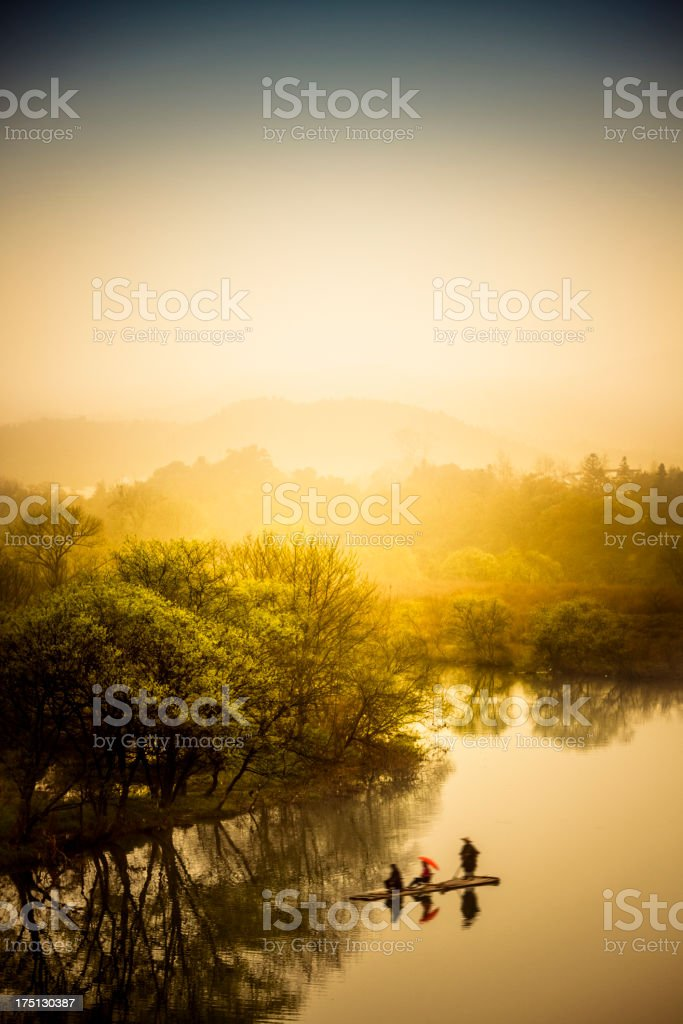 scene of rural royalty-free stock photo