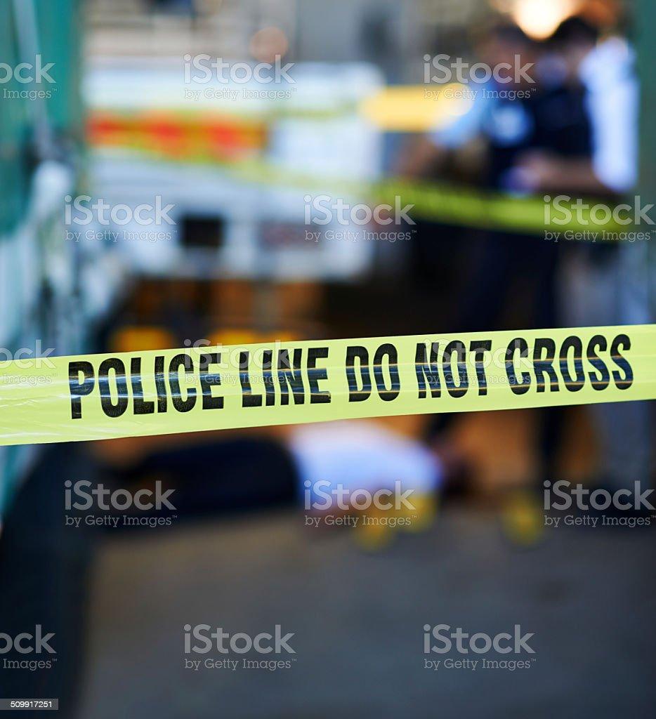 Scene of the crime stock photo