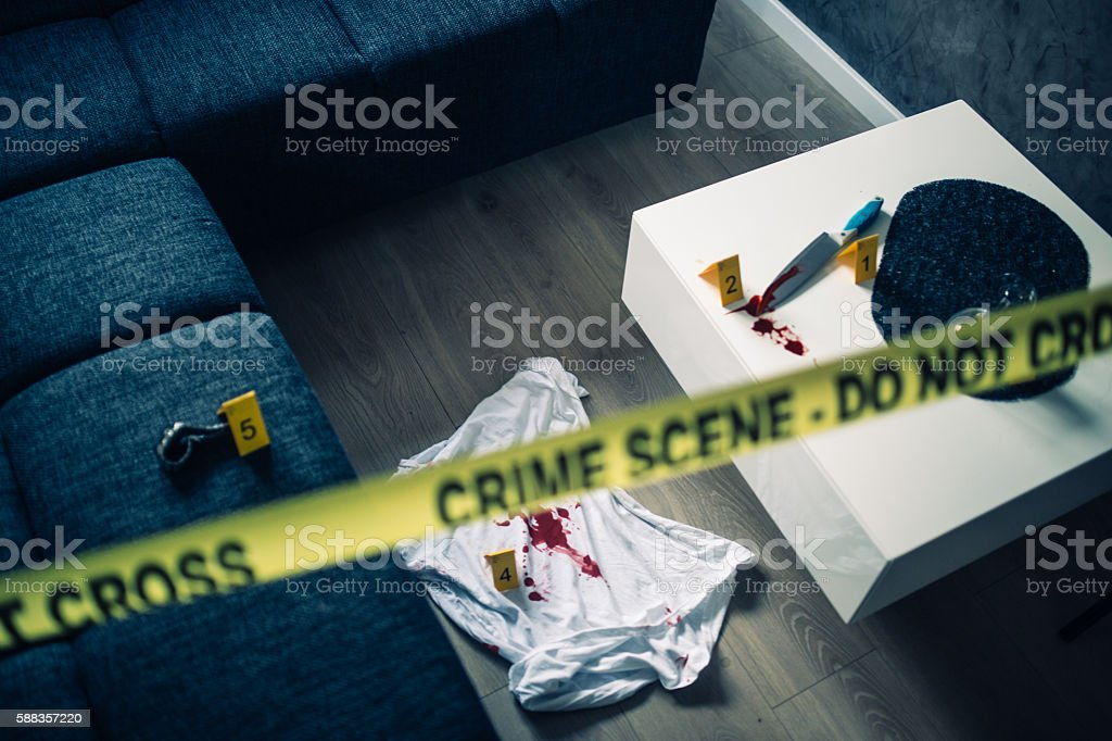 Scene of the crime stock photo