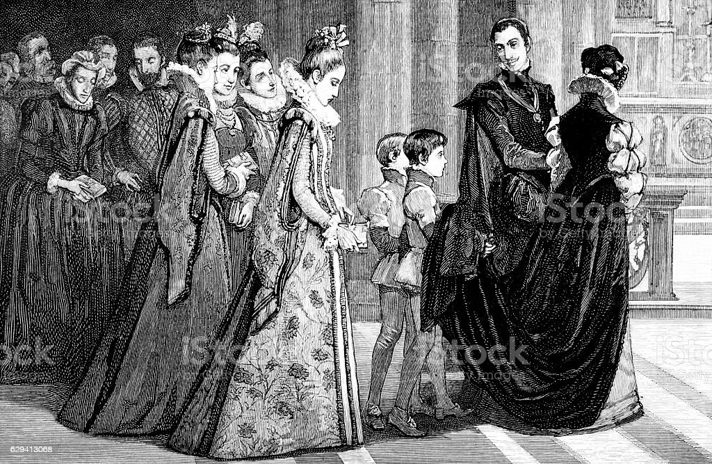 Scene with Mary Queen of Scots stock photo