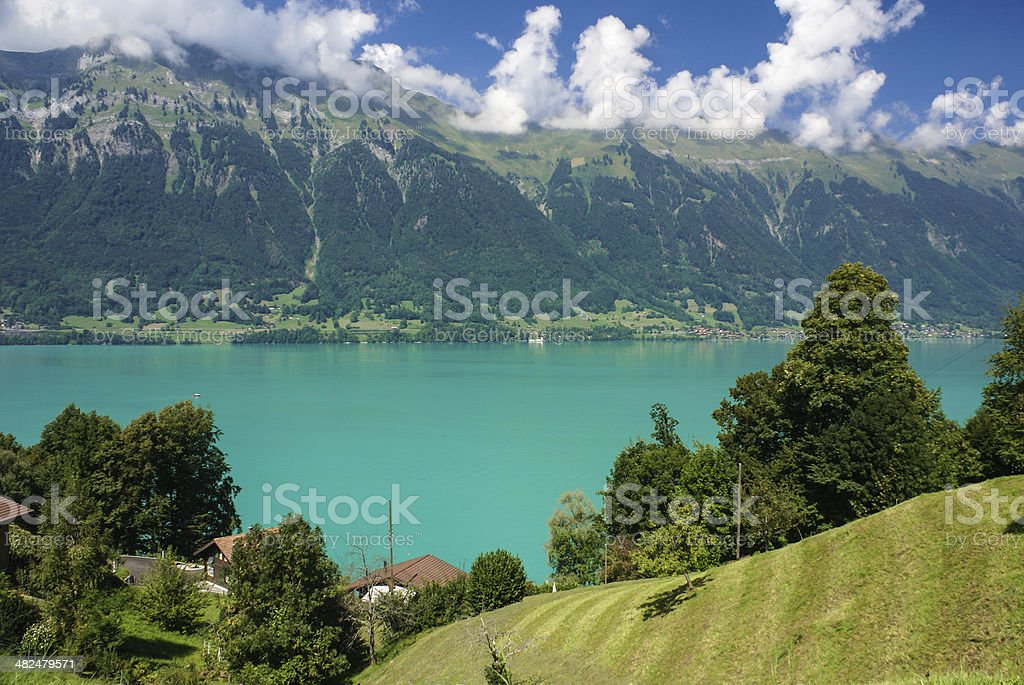 scenery around Lake Brienz of Jungfrau region, Switzerland royalty-free stock photo