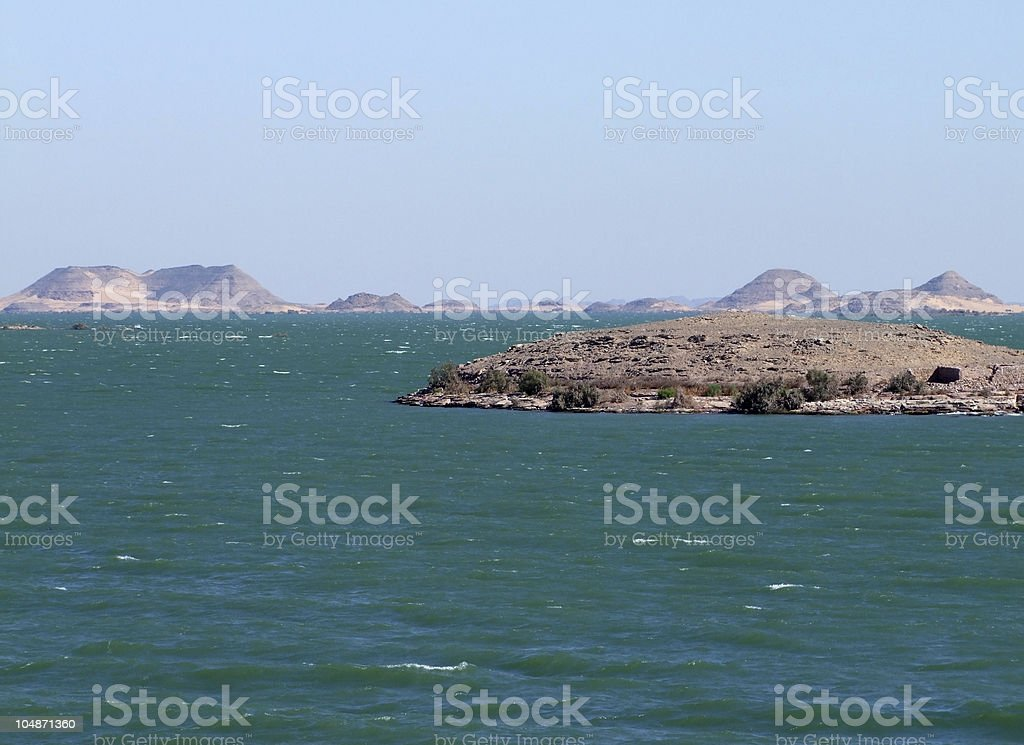 scenery around Lake Nasser stock photo