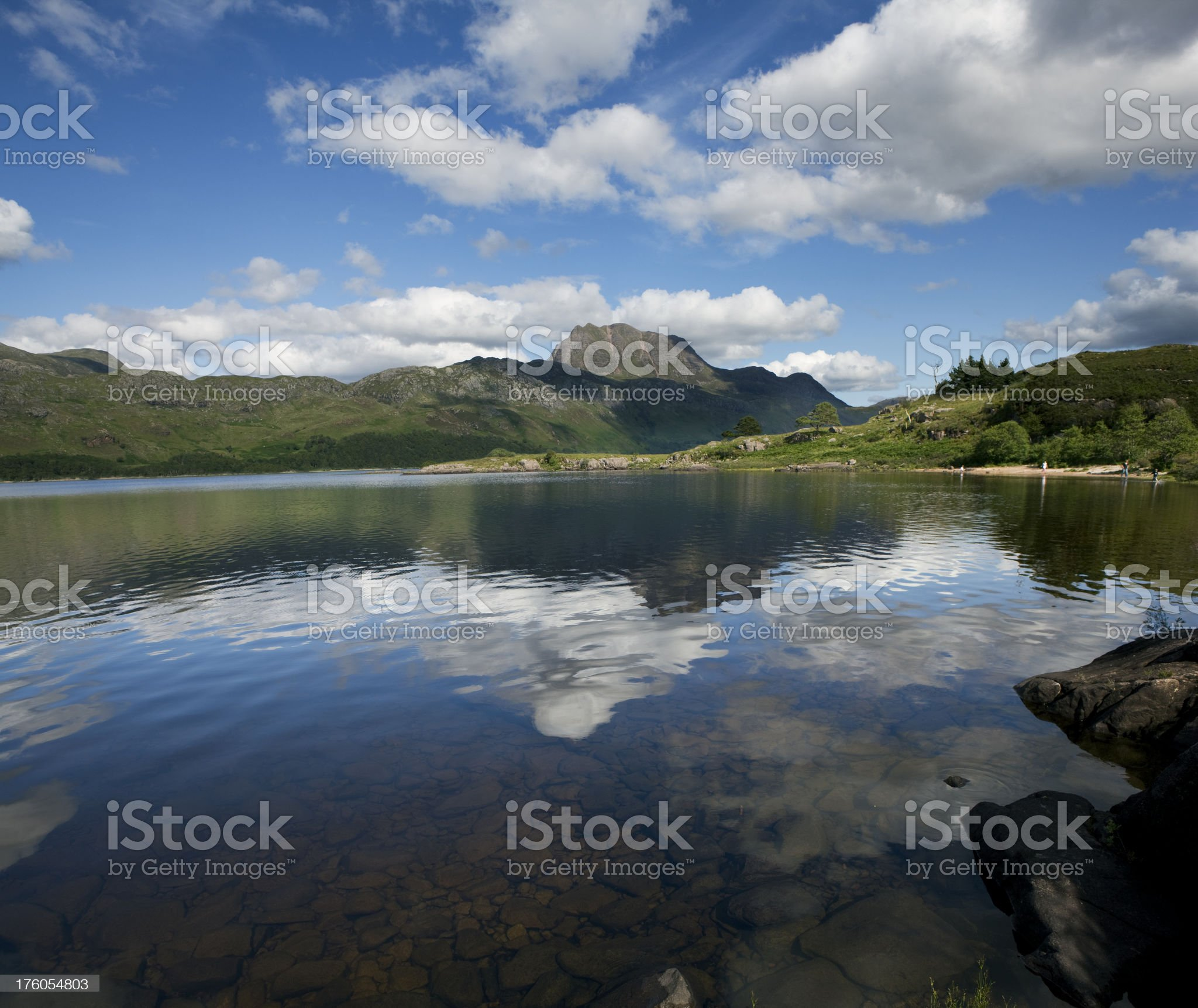 scenery at Loch Maree in Scotland royalty-free stock photo
