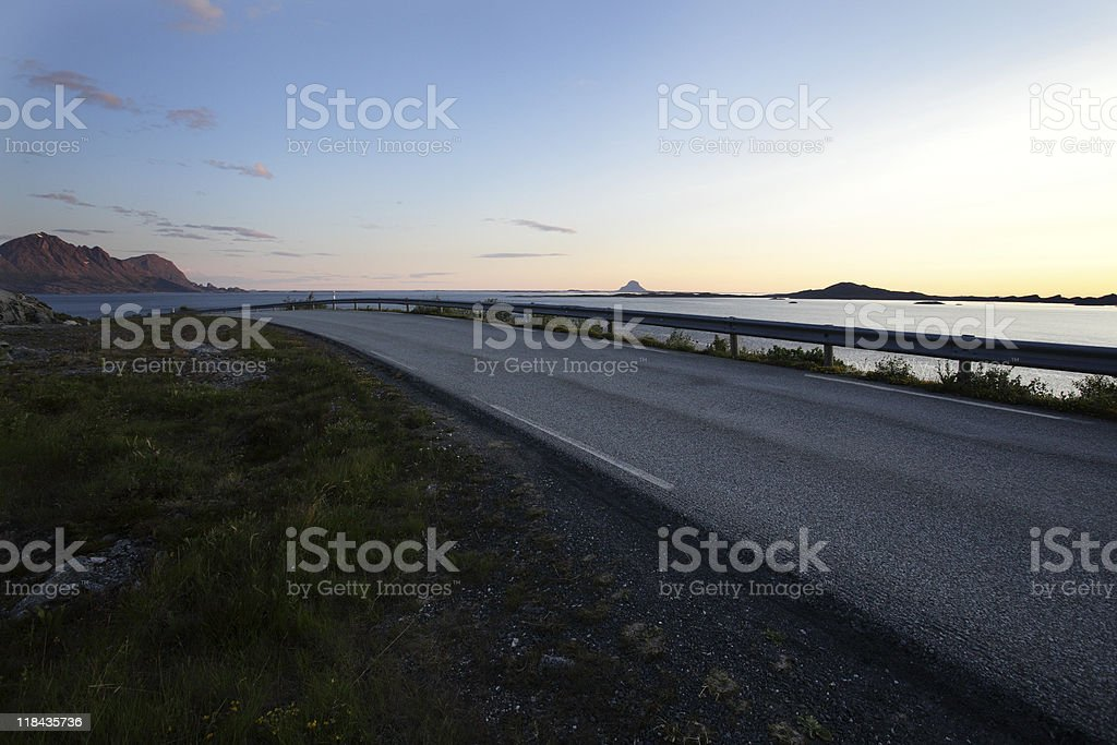 Scenery from the coastal route, rv 17. royalty-free stock photo