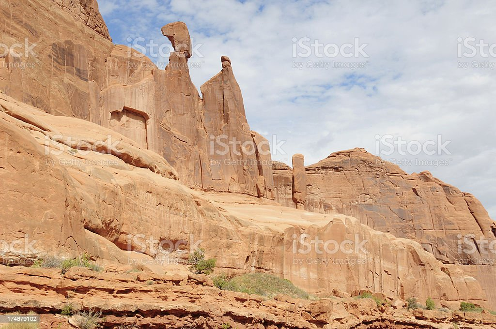 Scenery in Arches National Park royalty-free stock photo