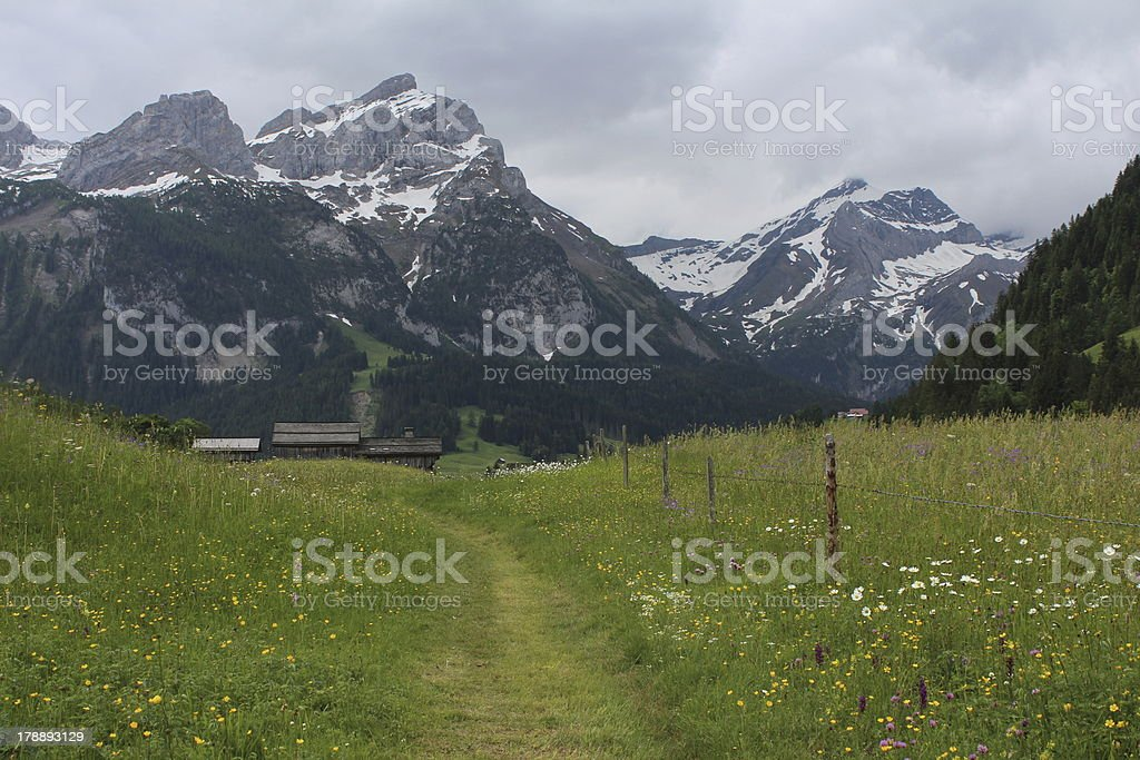 Scenery in Gsteig bei Gstaad royalty-free stock photo