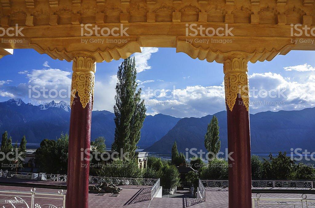 Scenery in Panamik, Ladakh. stock photo