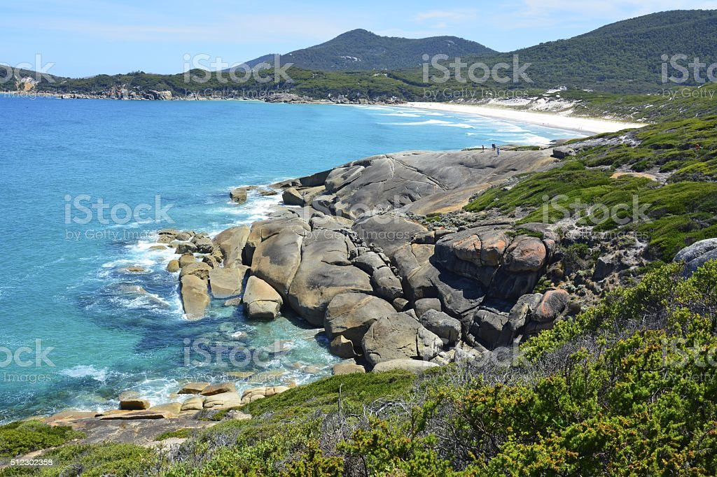 Scenery in Wilsons Promontory National Park. stock photo