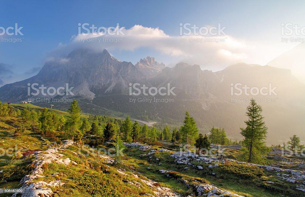 Scenery nature Alps in Italy stock photo