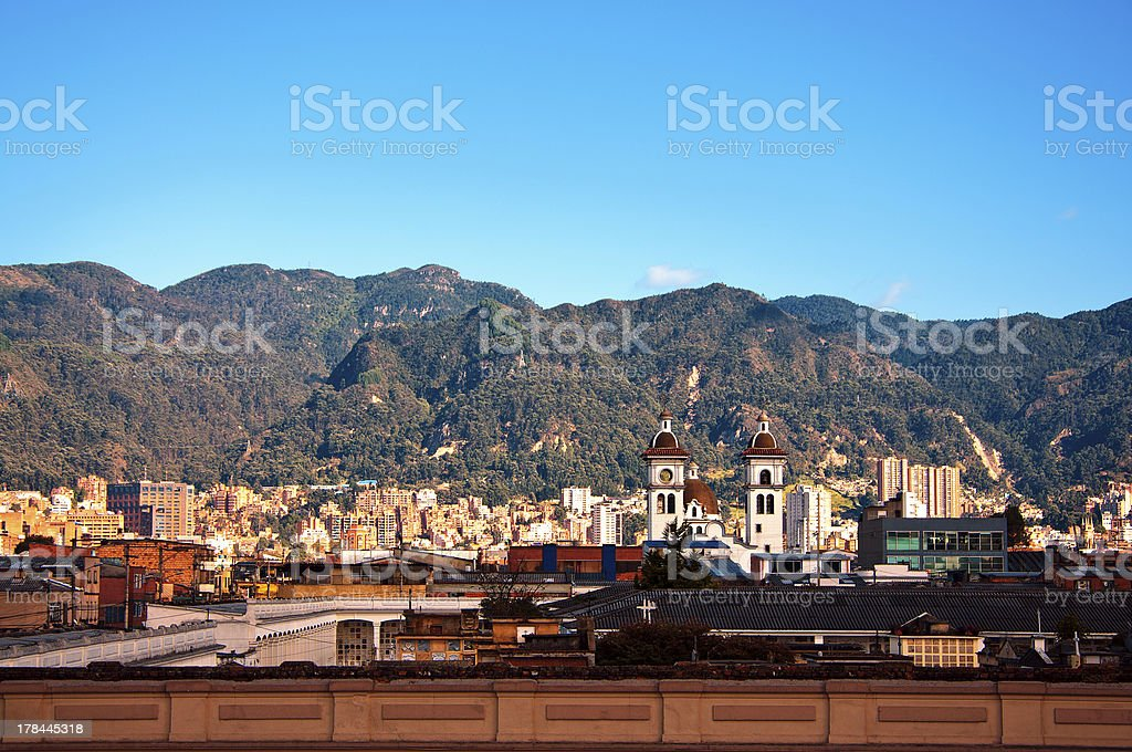 Scenery of Bogota and the Andes Mountains stock photo