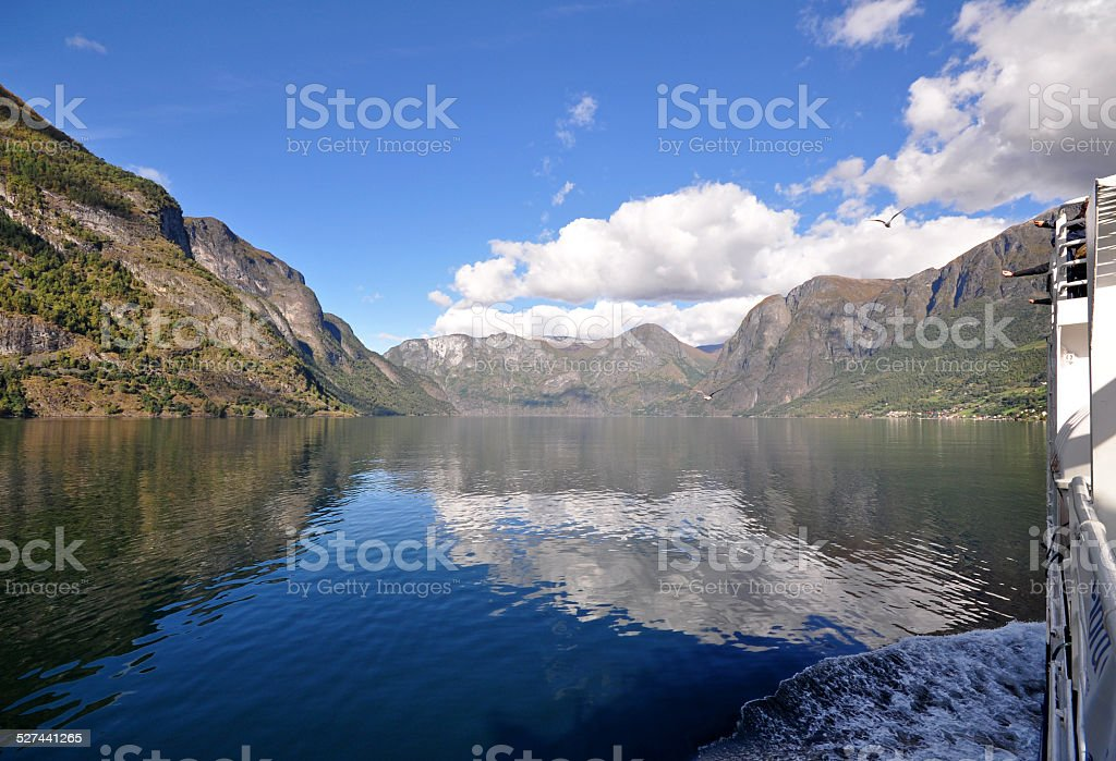 Scenery of Flam fjords, Norway stock photo