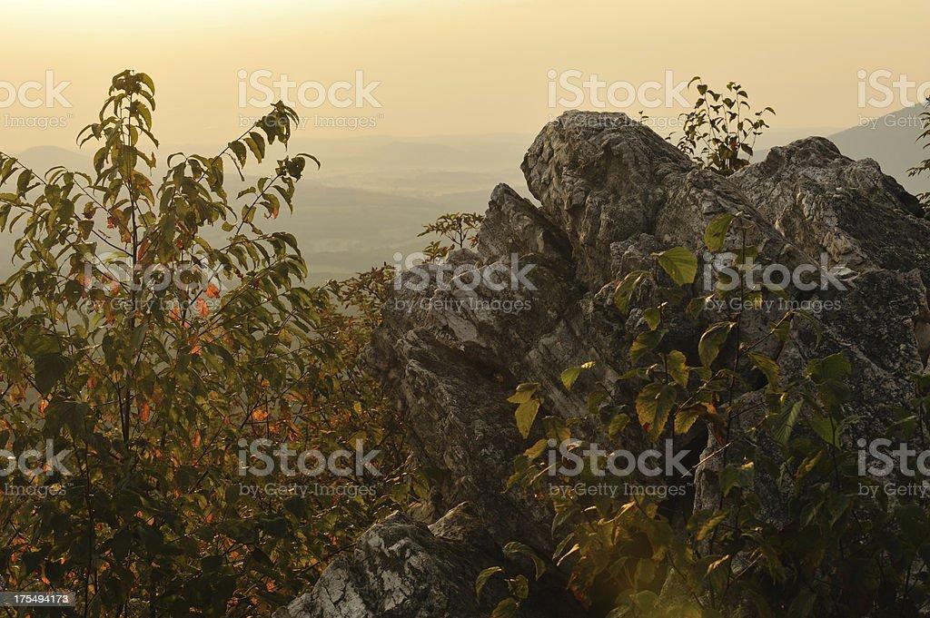 Scenery of Hawk Mountain stock photo
