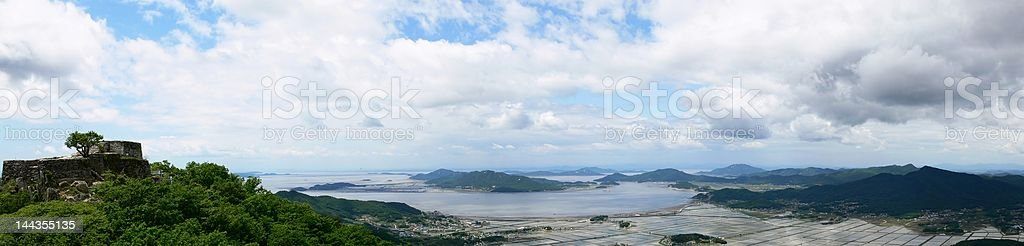 Scenery of Korean West Coast stock photo