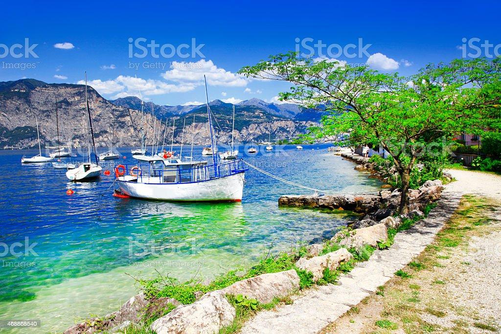Scenery Of Lago Di Garda,Italy stock photo