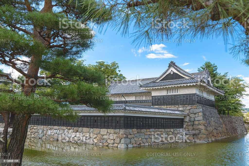 Scenery of Matsumoto Castle stock photo