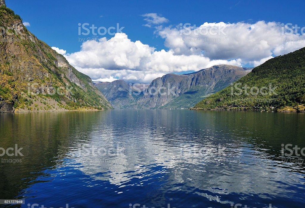 Scenery of Norway fjords stock photo