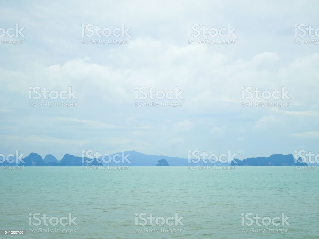 Scenery of ocean and islands in Koh Yao Noi Island stock photo