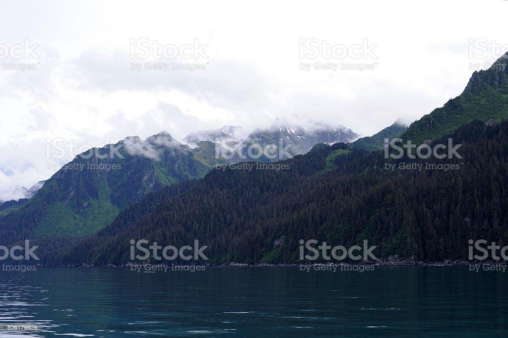 Scenery of Resurrection Bay in Alaska stock photo