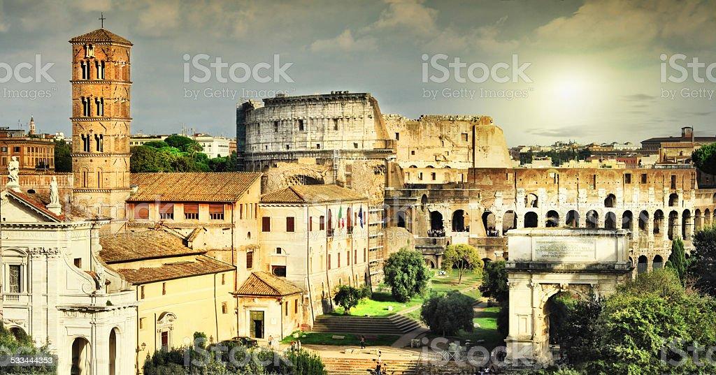 Scenery of Rome stock photo