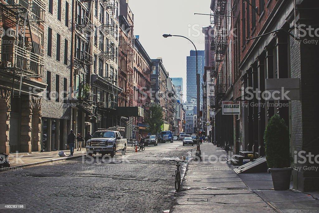 Scenery of Soho in New York stock photo