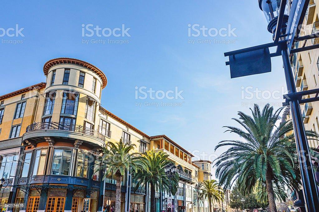 Scenery of the beautiful shopping avenue stock photo