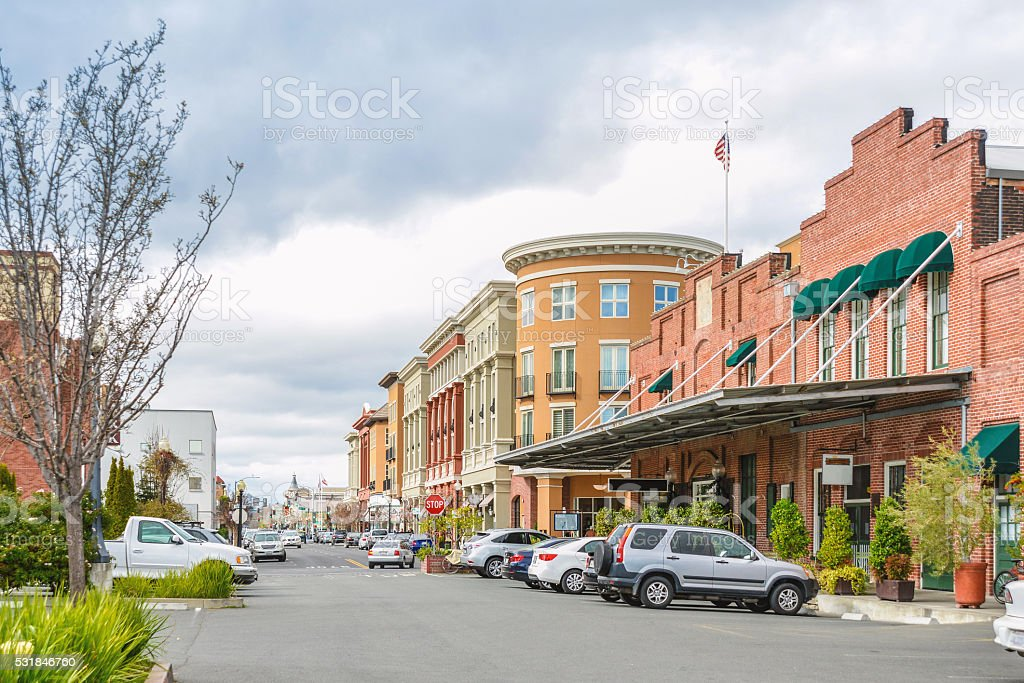 Scenery of the Napa downtown stock photo