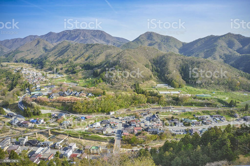 Scenery of the village in Northeastern Japan stock photo