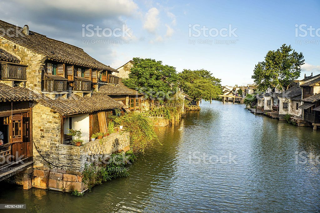 scenery of Wuzhen in China stock photo