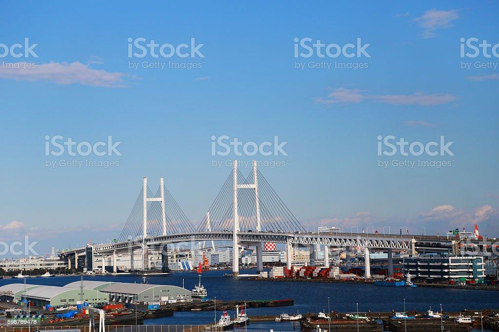 Scenery of Yokohama Port foto de stock libre de derechos