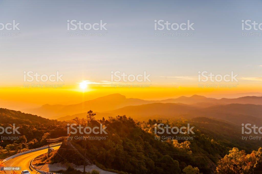 Scenery on high stock photo