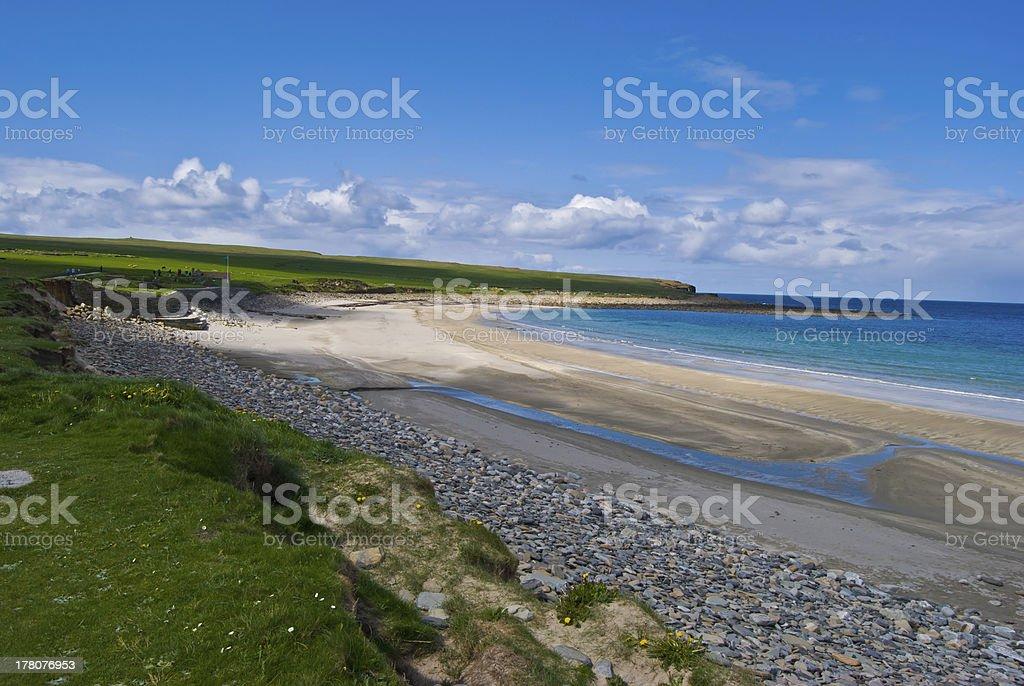 Scenery on Orkney stock photo