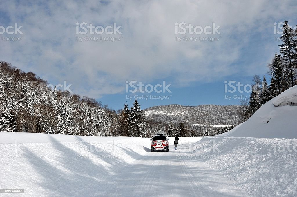 scenery on the road royalty-free stock photo
