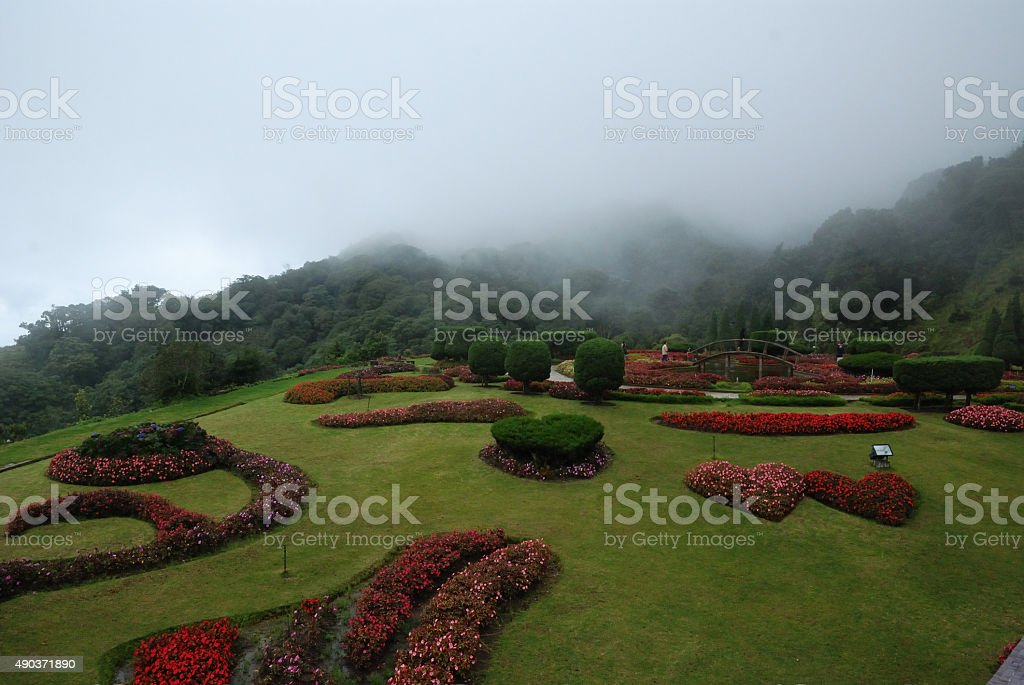 Scenery view point of Inthanon national park Chiangmai Thailand stock photo