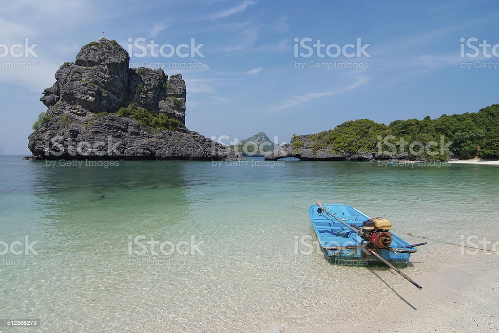 scenery with tropical sea and islands stock photo