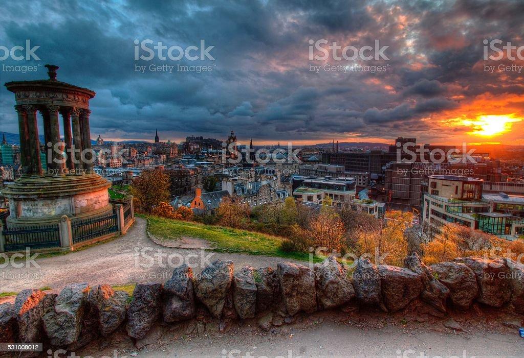 Scenes from Calton Hill stock photo