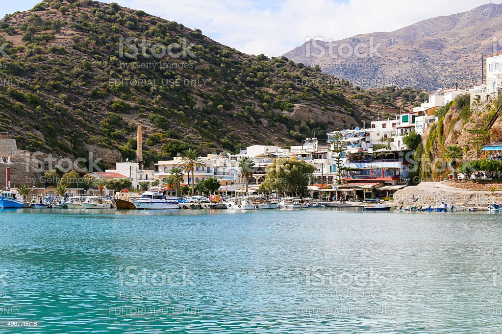 Scenic Agia Galini stock photo