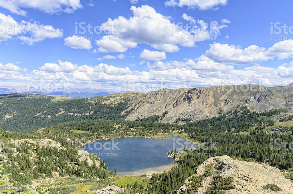 Scenic Alpine Lake in Rocky Mountains royalty-free stock photo