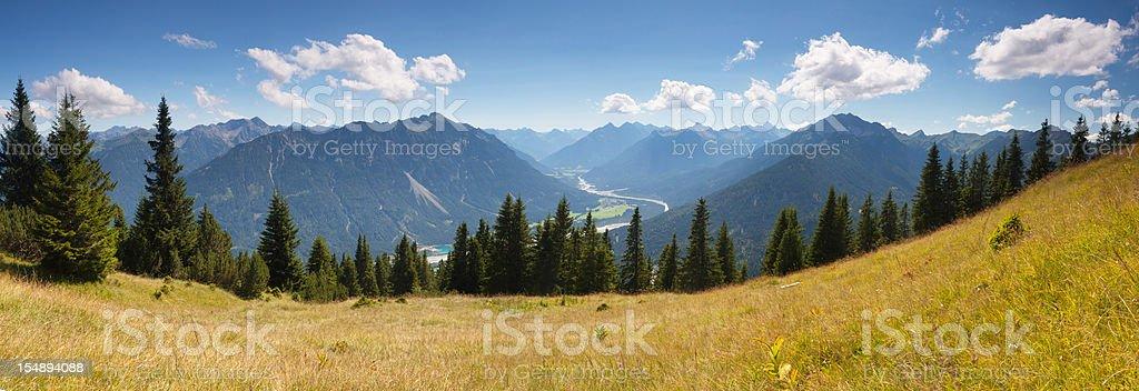 scenic alpine view from mt. gaichtspitz - tirol, austria royalty-free stock photo
