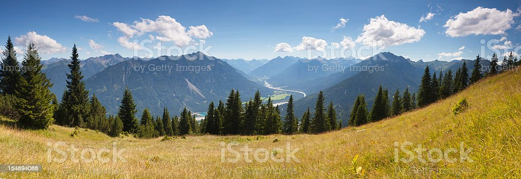 scenic alpine view from mt. gaichtspitz - tirol, austria stock photo
