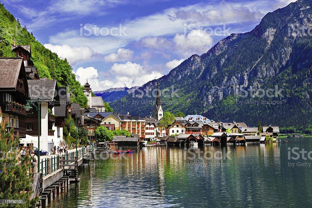 scenic Alpine villages royalty-free stock photo