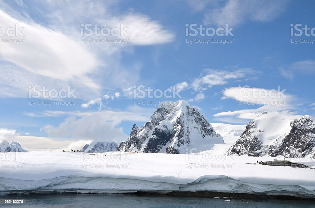 Scenic Antarctica stock photo