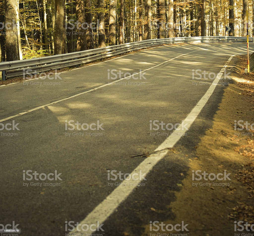 Scenic Autumn Drive road in mountain - Vignette landscape royalty-free stock photo