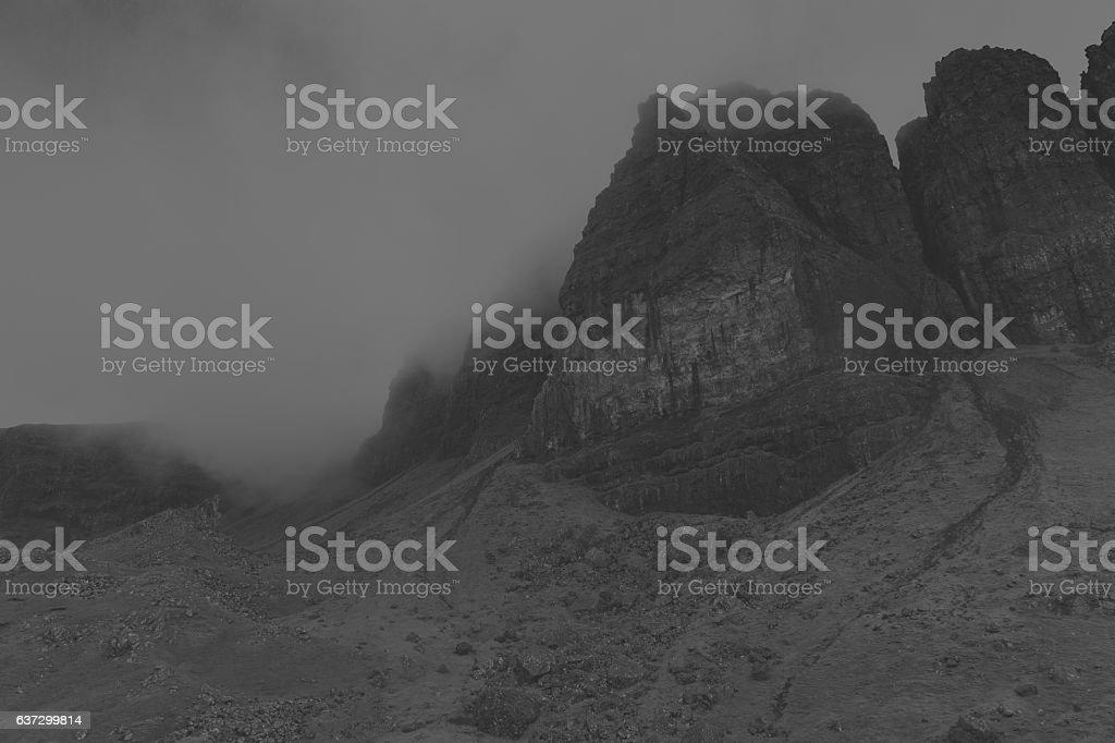 Scenic background of Trotternish on Isle of Skye stock photo
